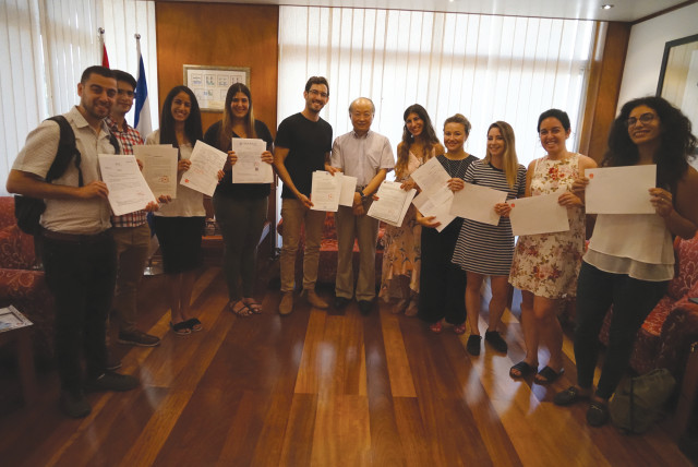 THE FIRST group of students to attend the Guangdong Technion-Israel Institute of Technology (photo credit: TECHNION-ISRAEL INSTITUTE OF TECHNOLOGY)
