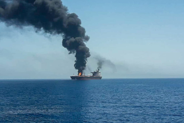 Two killed in alleged Iranian drone attack on Israeli-managed ship - The  Jerusalem Post