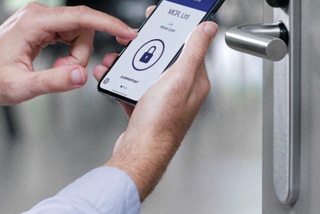 The new SMARTair lock system from Mul-T-Lock  (photo credit: Courtesy)