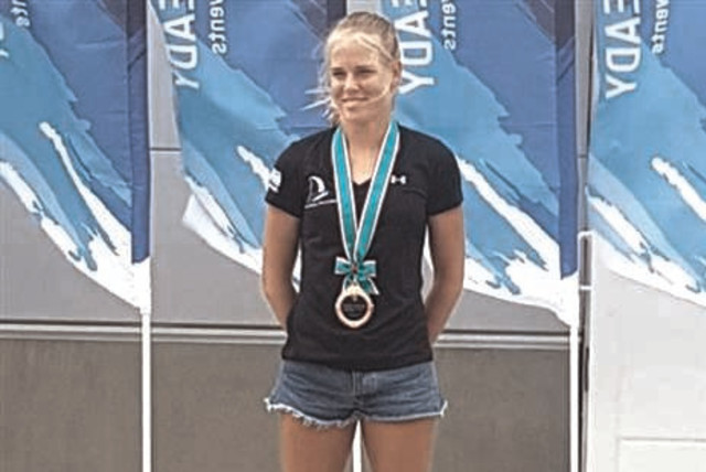 ISRAELI WINDSURFER Katy Spychakov improved her chances of qualifying for the RS:X competition at the 2020 Tokyo Olympics with a bronze medal yesterday at the Ready Steady Tokyo – Sailing competition in Japan. (photo credit: ISRAELI SAILING ASSOCIATION/COURTESY)