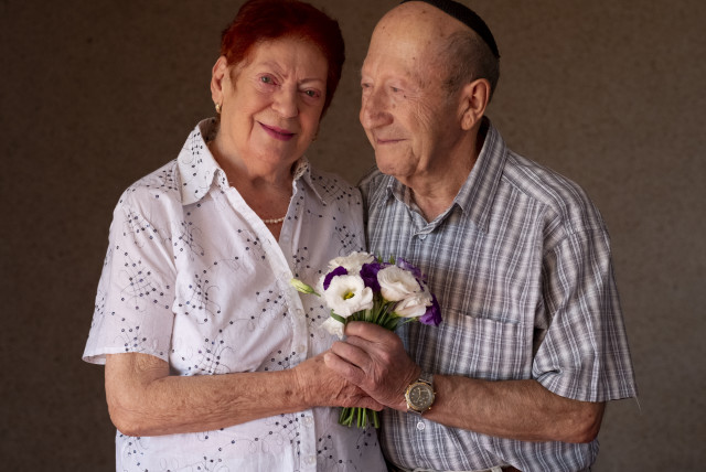 Holocaust survivors renew their wedding vows after 70 years in a ceremony organized by the Claims Conference. (photo credit: Courtesy)