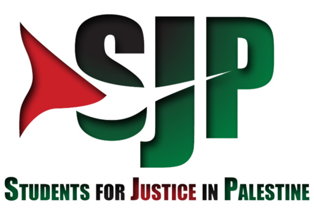 Students for Justice in Palestine (SJP) logo (photo credit: REFORMATION32/WIKIMEDIA COMMONS)