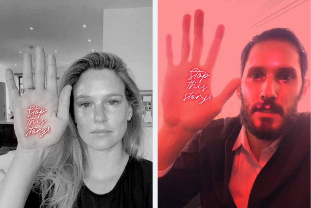 Bar Refaeli and Omri Casspi participate in 'Stop this Story' campaign (photo credit: EUROPEAN JEWISH CONGRESS)