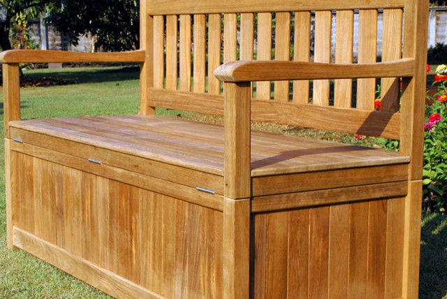 Top 6 Outdoor Storage Benches For 2020, Wood Bench With Storage Outdoor