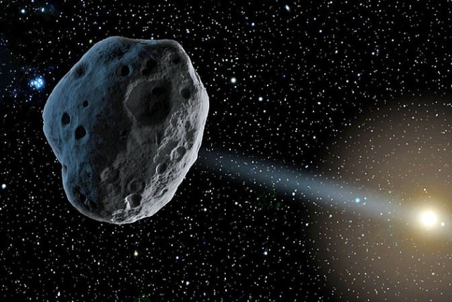 Asteroid illustrative (photo credit: Wikimedia Commons)