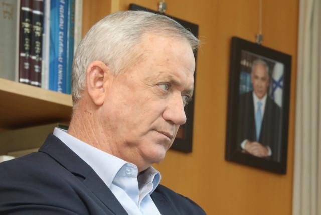 Alternate Prime Minister and Defense Minister Benny Gantz (photo credit: MARC ISRAEL SELLEM)