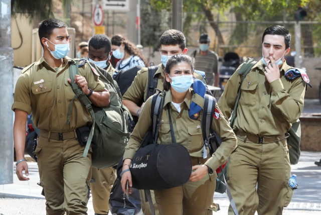 IDF cadets at Base 80 will be allowed to quarantine at home (photo credit: MARC ISRAEL SELLEM/THE JERUSALEM POST)