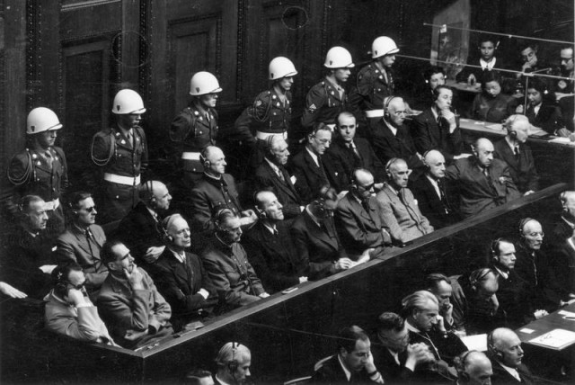 Nazi defendants appear at the Nuremberg Trials  (photo credit: SNAPPY GOAT)