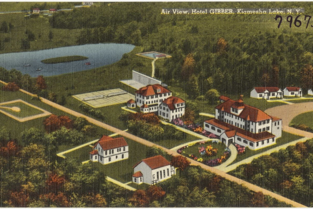 Gibber Hotel was a resort in Kiamesha Lake, N.Y. () (photo credit: THE TICHNOR BROTHERS COLLECTION)
