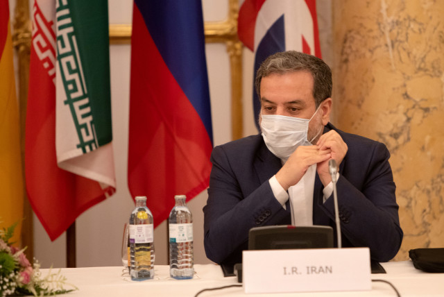 Iran's top nuclear negotiator, Abbas Aragchi, attends a meeting of the JCPOA Joint Commission in Vienna, Austria, September 1, 2020. (photo credit: REUTERS)