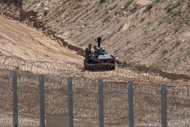 The Jaguar traversing through the land (photo credit: IDF SPOKESMAN'S UNIT)