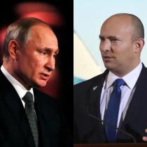 Russia's President Vladimir Putin and Israel's Prime Minister Naftali Bennett.