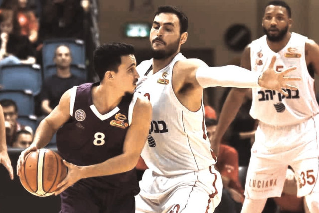 DIMINUTIVE GUARD Niv Misgav (left) almost propelled Ironi Nahariya past Hapoel Jerusalem in the State Cup final earlier this year, and he has retained his form since the Israeli basketball league resumed last week after the coronavirus-induced break
