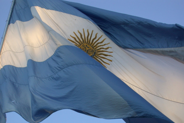 Argentina's flag in Buenos Aires
