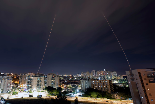 Iron Dome anti-missile system fires interception missiles as rockets are launched from Gaza towards Israel, in the city of Ashkelon, Israel, February 23, 2020