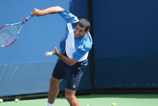 Andy Ram at US Open practice 2009