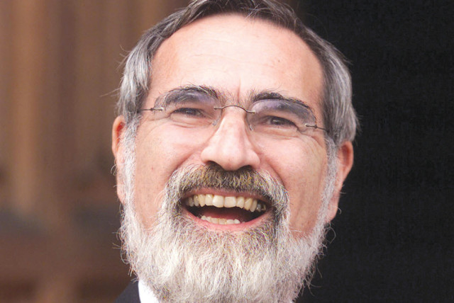 Chief Rabbi Jonathan Sacks at Lambeth Palace in 2001 after being honored as a doctor of divinity in recognition of his leadership in the Jewish community and his contribution to inter-faith relations
