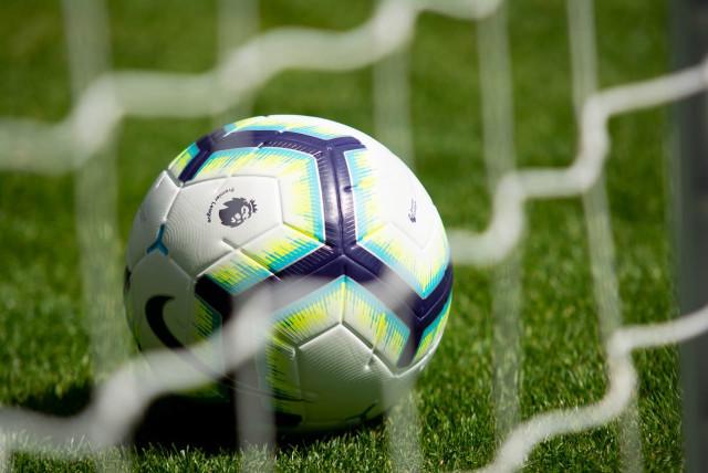 Premier League soccer ball, illustrative