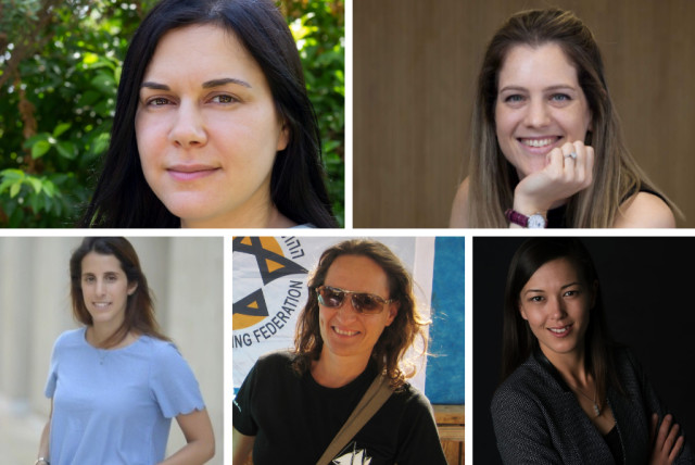 (Clockwise from top left) Ruth Polachek, Tom Goldberg Abramovici, Irena Derenshtein, Daphna Litvin and Liron Kreiss