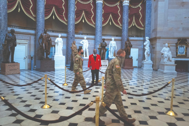 US NATIONAL GUARD soldiers walk through Statuary Hall on Capitol Hill in Washington three weeks after the Capitol riot. Real leaders care about the hearts they hold as they walk people through the inevitable human experience of loss.