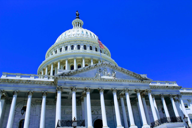 The US Capitol building, which contains the House of Representatives and the Senate.