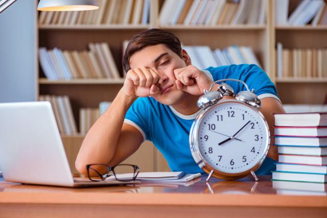 Tired teen (illustrative)