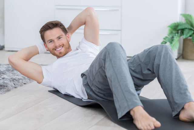 Man exercises (illustrative)