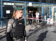 An Israeli Border Policewoman at the scene of the Jerusalem Central Bus Station stabbing attack, Dec