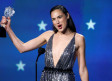 Actress Gal Gadot receives the 2018 #See Her award at the 23rd Critics' Choice Awards for her perfor