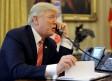 US President Donald Trump congratulates Prime Minister Leo Varadkar of Ireland, during a phone call