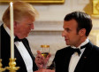 French President Emmanuel Macron toasts US President Donald Trump during a State Dinner.