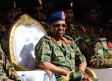 Sudan's President Omar Ahmed al-Bashir looks on during Sudan's Saudi Air Force show during the final