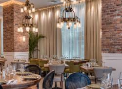 The interior of Shallot, Ramat Ha-Chayal's new kosher restaurant