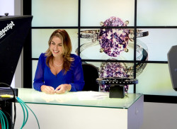 Angeline Davies presenting Gems TV, August 2018