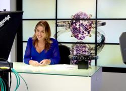 Angeline Davies presenting Gems TV, August 2018