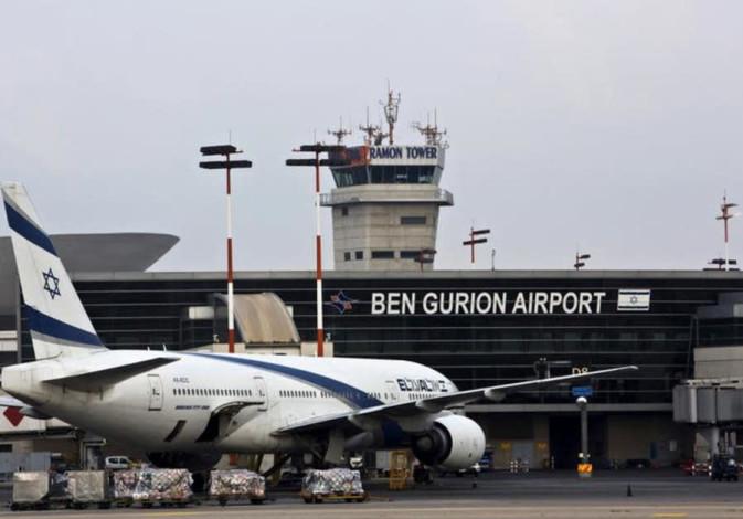 An El Al plane in Ben Gurion Airport
