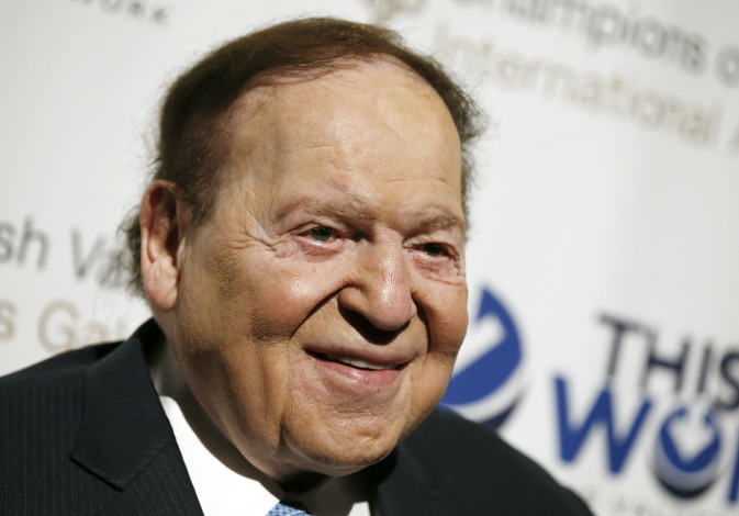 Sheldon Adelson, a casino magnate and major backer of pro-Israel causes.