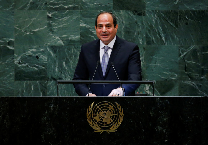 Egypt's President Abdel Fattah al-Sisi addresses the 73rd session of the United Nations General Ass