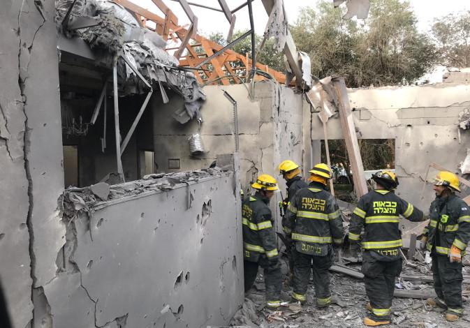 Rocket fire near Kfar Saba