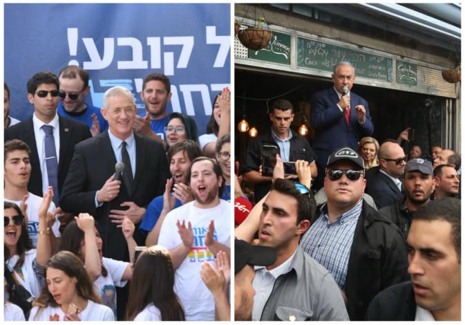 Netanyahu tem vantagem apertada sobre Gantz após 97% dos votos