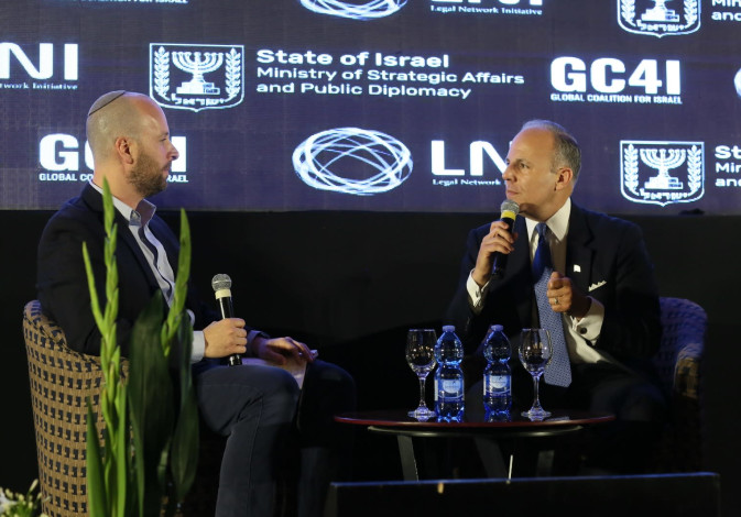 U.S. Special Envoy for Monitoring and Combating Antisemitism, Elan Carr is interviewed by the Jerusa