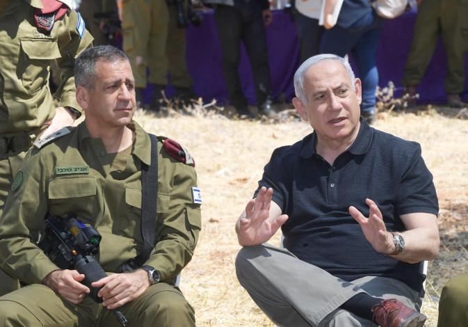 Prime Minister Benjamin Netanyahu and IDF Chief of Staff Lt.-Gen. Aviv Kochavi