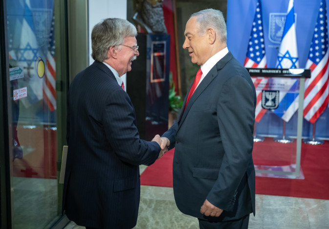 Prime Minister Benjamin Netanyahu and US Security Advisor John Bolton in Jerusalem, June 23, 2019