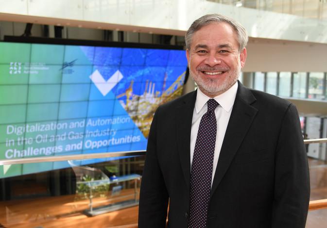 US Deputy Secretary of Energy Dan Brouillette at the Tel Aviv Stock Exchange, June 24, 2019