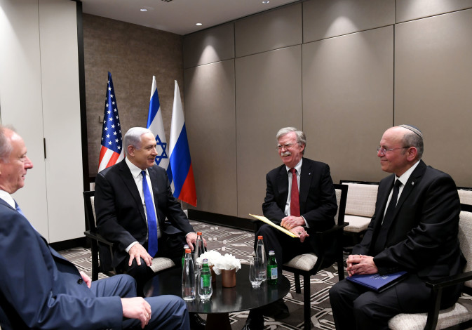 John Bolton met with his Russian counterpart, Nikolai Patrushev, and Israel's National Security Advi