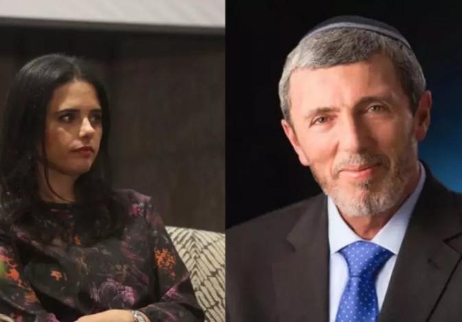 New Right's Ayelet Shaked and Bayit Yehudi's Rafi Peretz