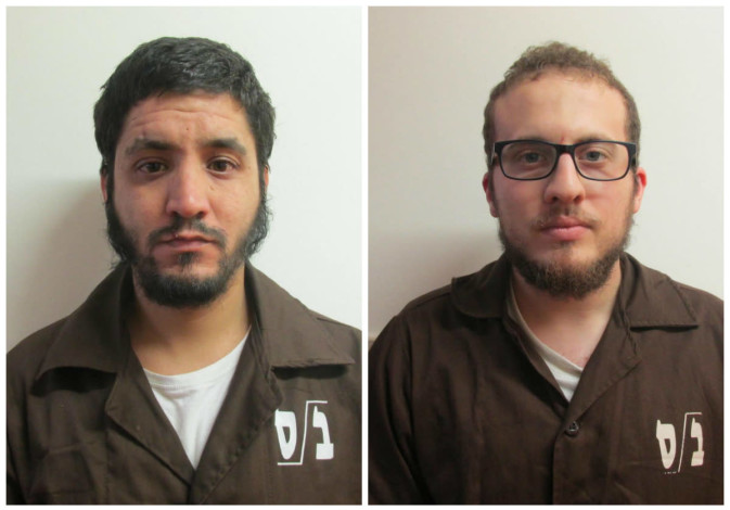 The two Israeli-Arab residents of the city of Tamra who had been arrested and charged with supportin