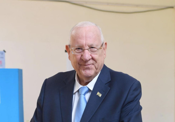 President Reuven Rivlin votes, September 17, 2019