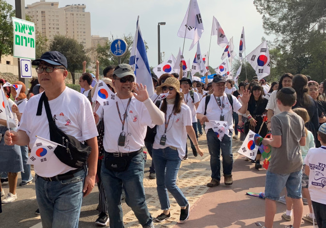 A South Korean delegation at the Feast of Tabernacles