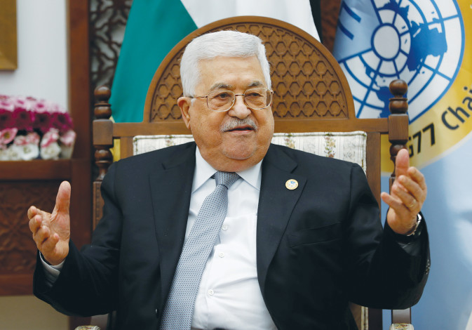 PA PRESIDENT Mahmoud Abbas – 'He makes threats and engages in fiery rhetoric as part of a strategy t
